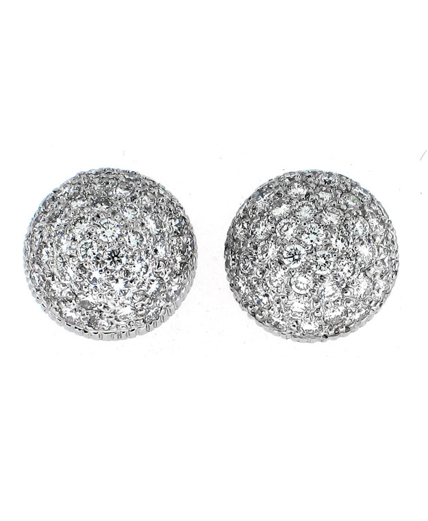 14KW Pave Fashion Studs with Diamonds: 1.25cts