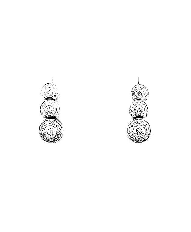 14KW Stud Look Earrings with Diammonds: 0.95cts